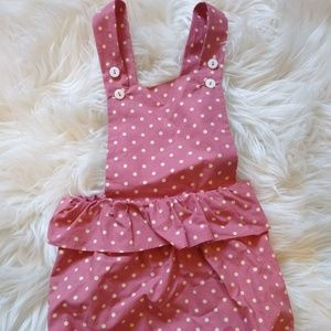 Other - Pink & Cream spotted romper